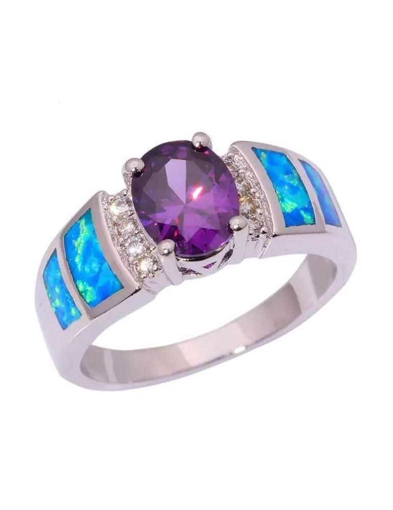 blue-opal-purple-amethyst-silver-healing-ring-gemstone-jewelry-white-background-hihoney-hr069