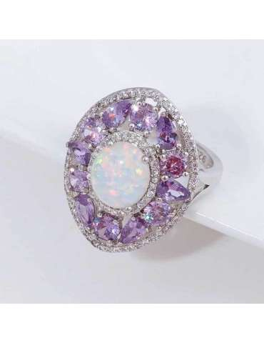 purple-amethyst-white-opal-zirconia-silver-healing-ring-gemstone-jewelry-grey-background-hihoney-hr070