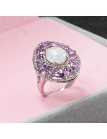 purple-amethyst-white-opal-zirconia-silver-healing-ring-gemstone-jewelry-pink-background-hihoney-hr070