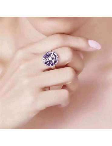 pink-rose-purple-zirconia-healing-silver-ring-gemstone-jewelry-woman-hand-chin-hihoney-hr077