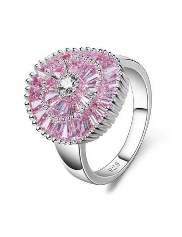 pink-rose-purple-zirconia-healing-silver-ring-gemstone-jewelry-white-background-top-hihoney-hr077