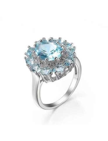 Light Blue Aquamarine Ring
