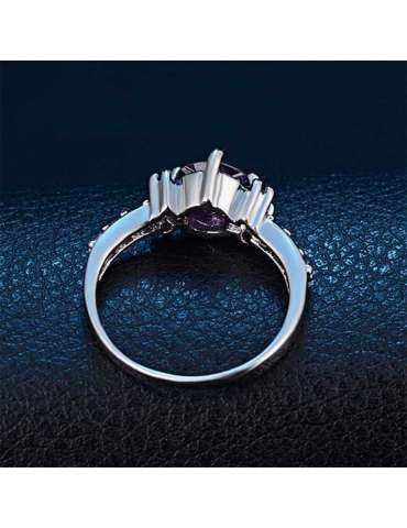 deep-purple-elegant-zirconia-silver-healing-ring-gemstone-jewelry-dark-blue-leather-background-top-hihoney-hr081