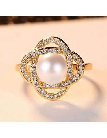 gold-plated-with-pearl-cubic-zirconias-silver-healing-ring-gemstone-jewelry-light-brown-ecru-background-hihoney-hr082
