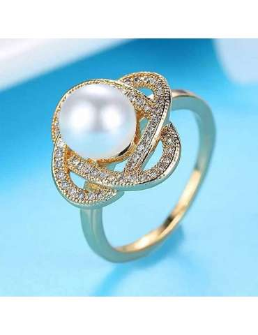 gold-plated-with-pearl-cubic-zirconias-silver-healing-ring-gemstone-jewelry-light-blue-background-hihoney-hr082