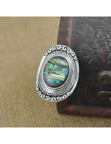 abalone-shell-ring-vintage-healing-ring-gemstone-jewelry-brown-background-hihoney-hr083