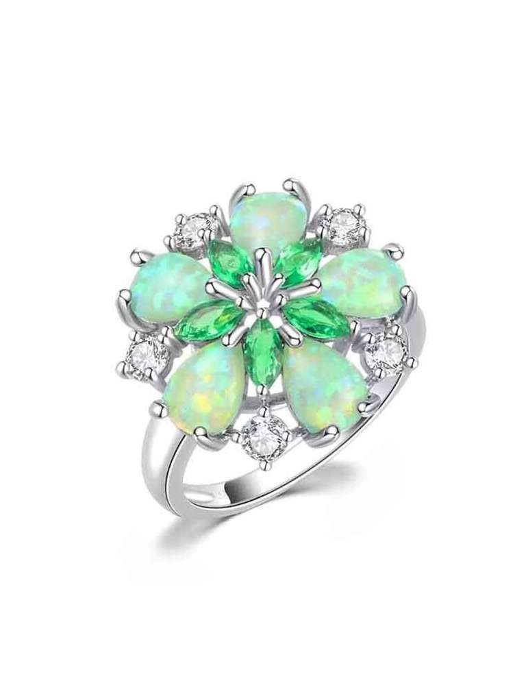 flower-shaped-green-opal-emerald-healing-ring-gemstone-jewelry-white-background-hihoney-hr027