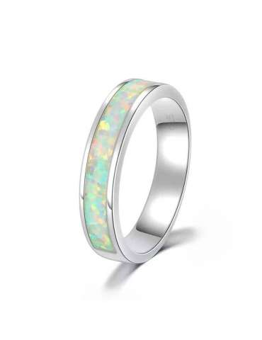 fire-opal-white-wedding-band-healing-silver-ring-gemstone-jewelry-white-background-hihoney-hr033